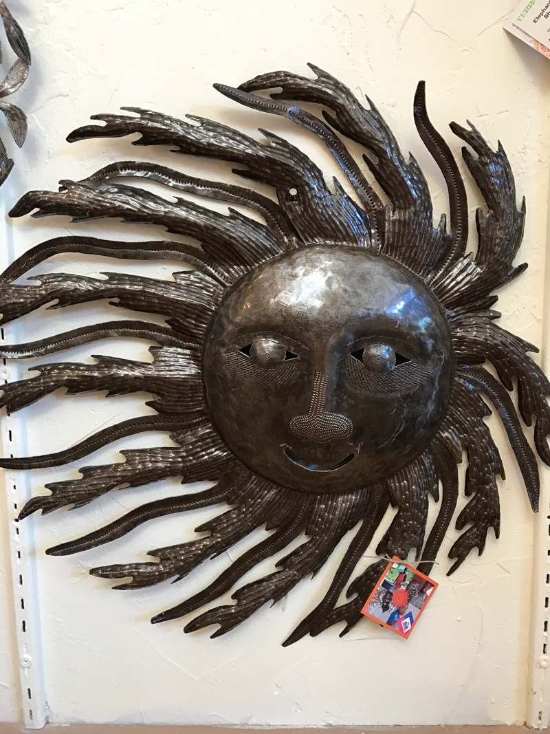 Hand crafted metal art by Beyond Borders in Haiti