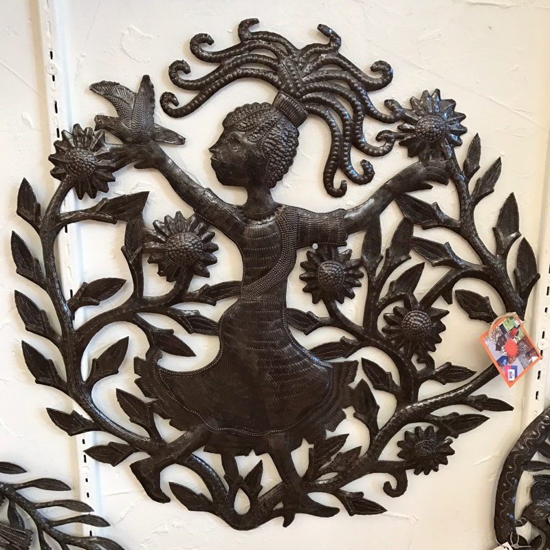 Hand crafted metal art from Haiti