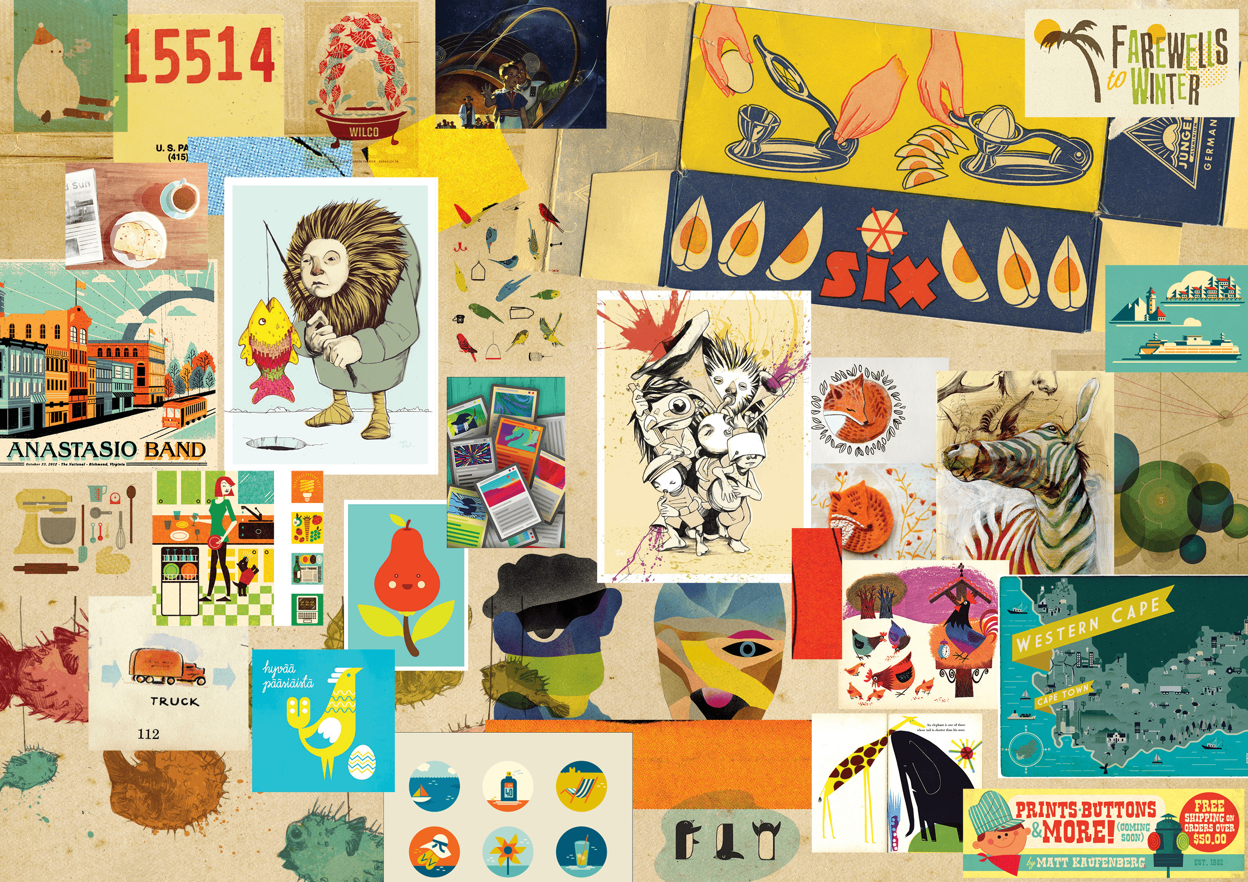 Artistic Mood Board for The Bear & The Picture Camera.
