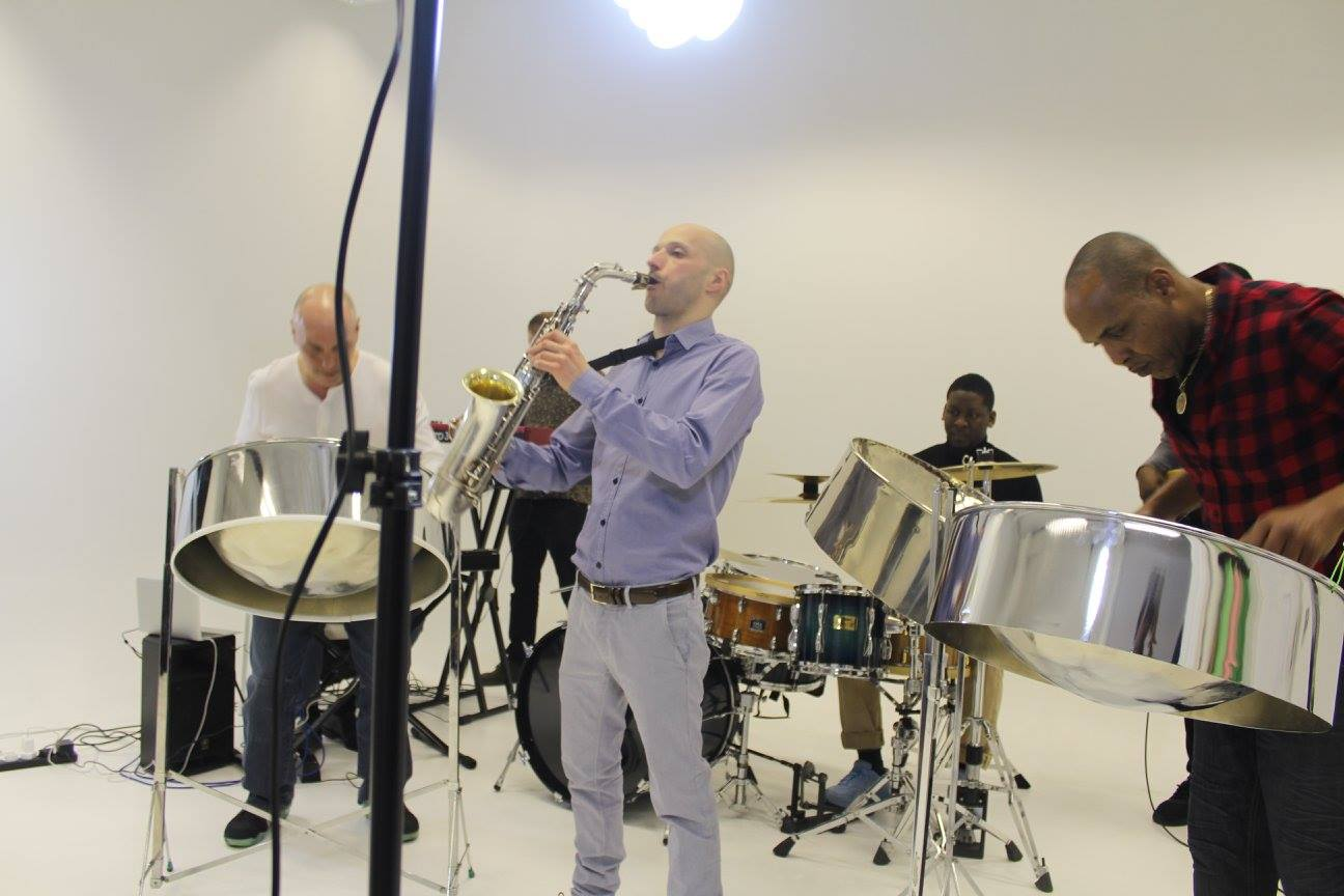 Video shoot with Steel Pan Fsion