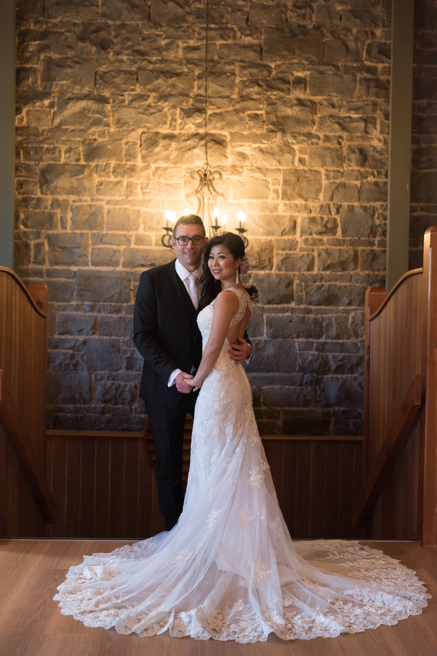 Tina and Ben front of stairs.jpg