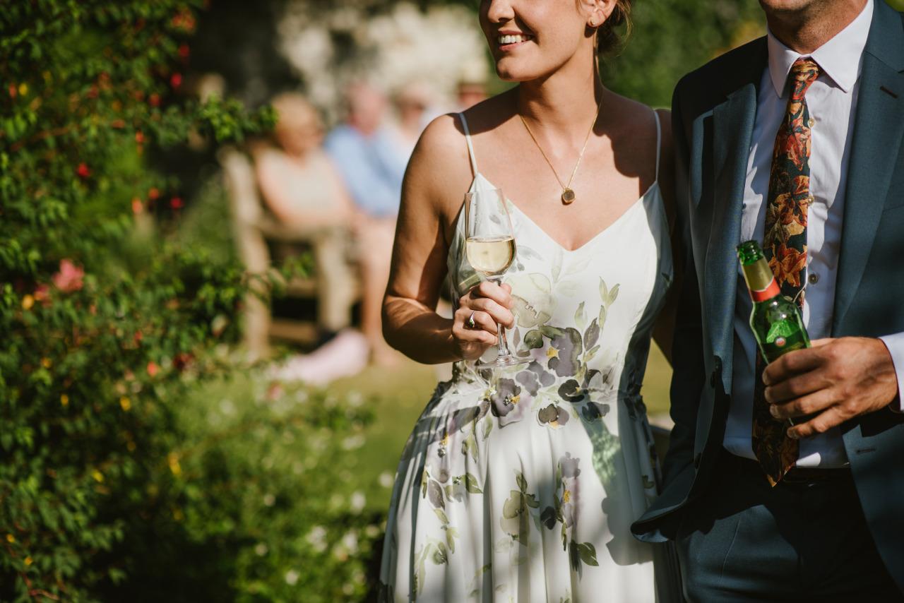 Print wedding Dress