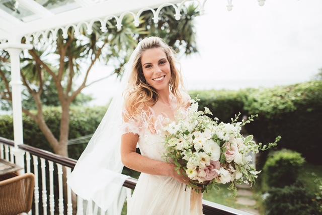 off shoulder feather wedding dress