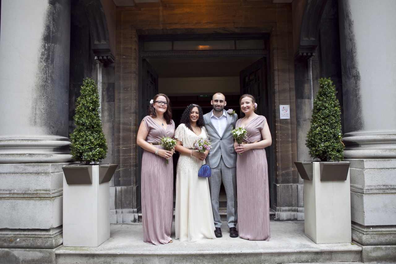 gold beaded chiffon wedding dress
