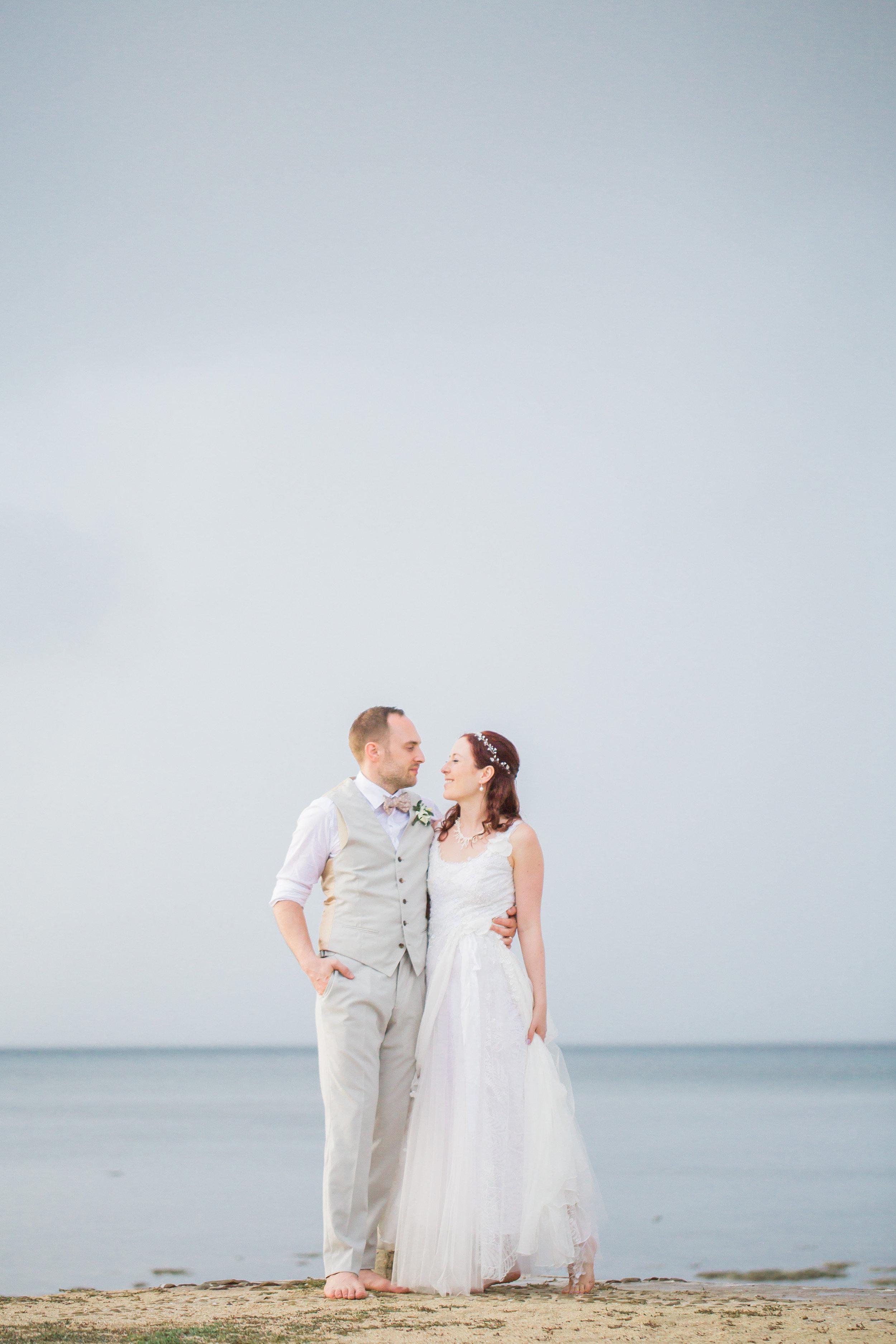 Fiji beach bride