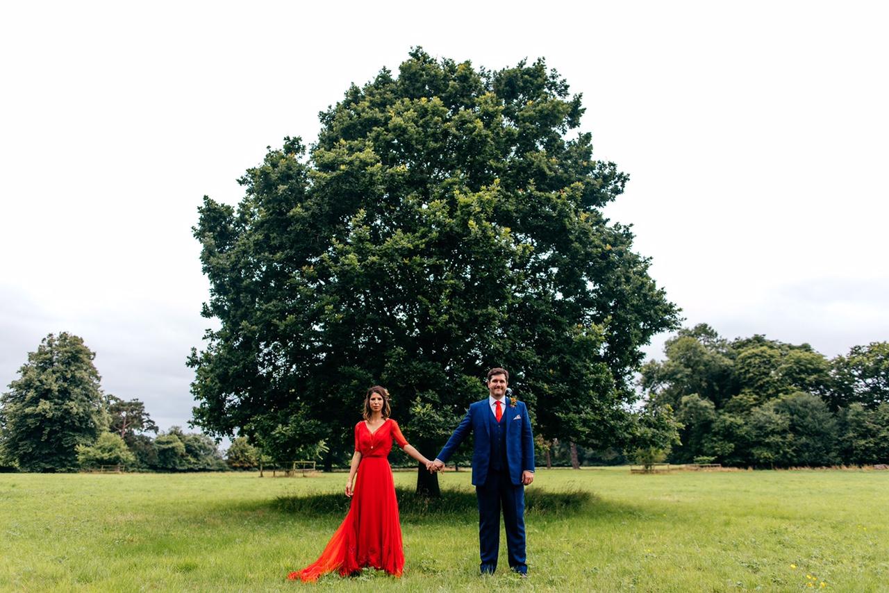 Red wedding dress vogue