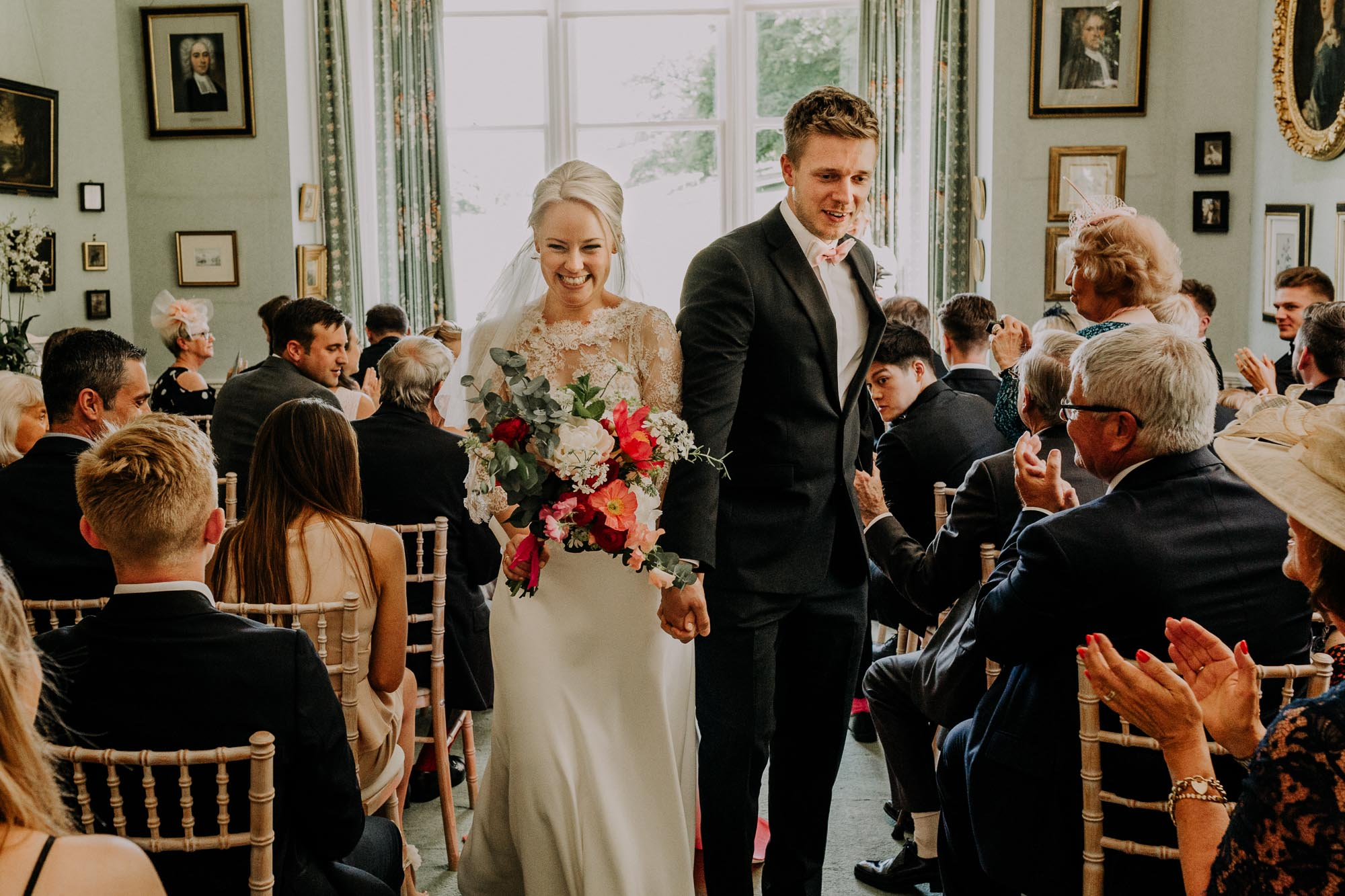 Lace and silk crepe wedding dress