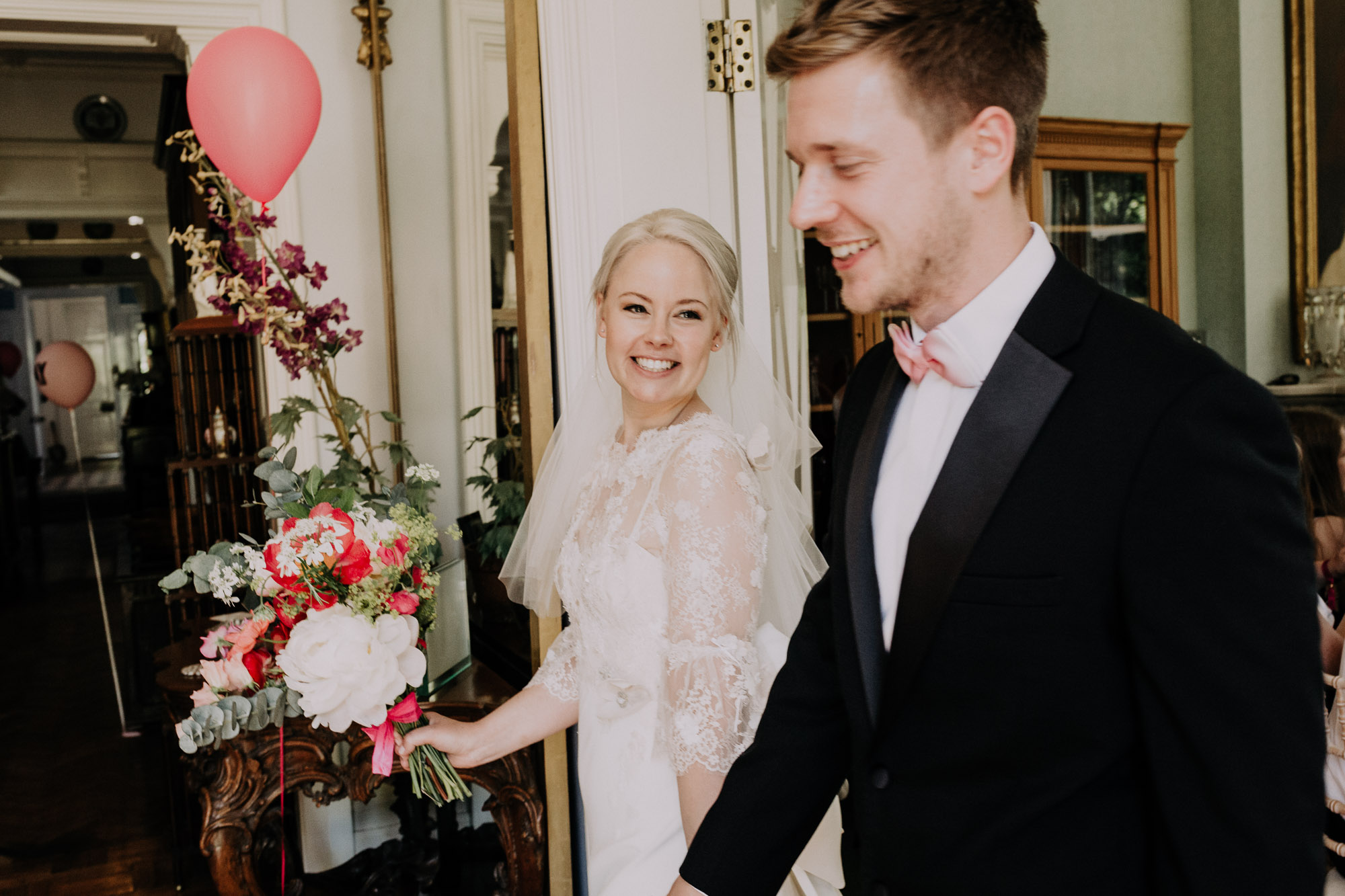Lace wedding dress with lace sleeves