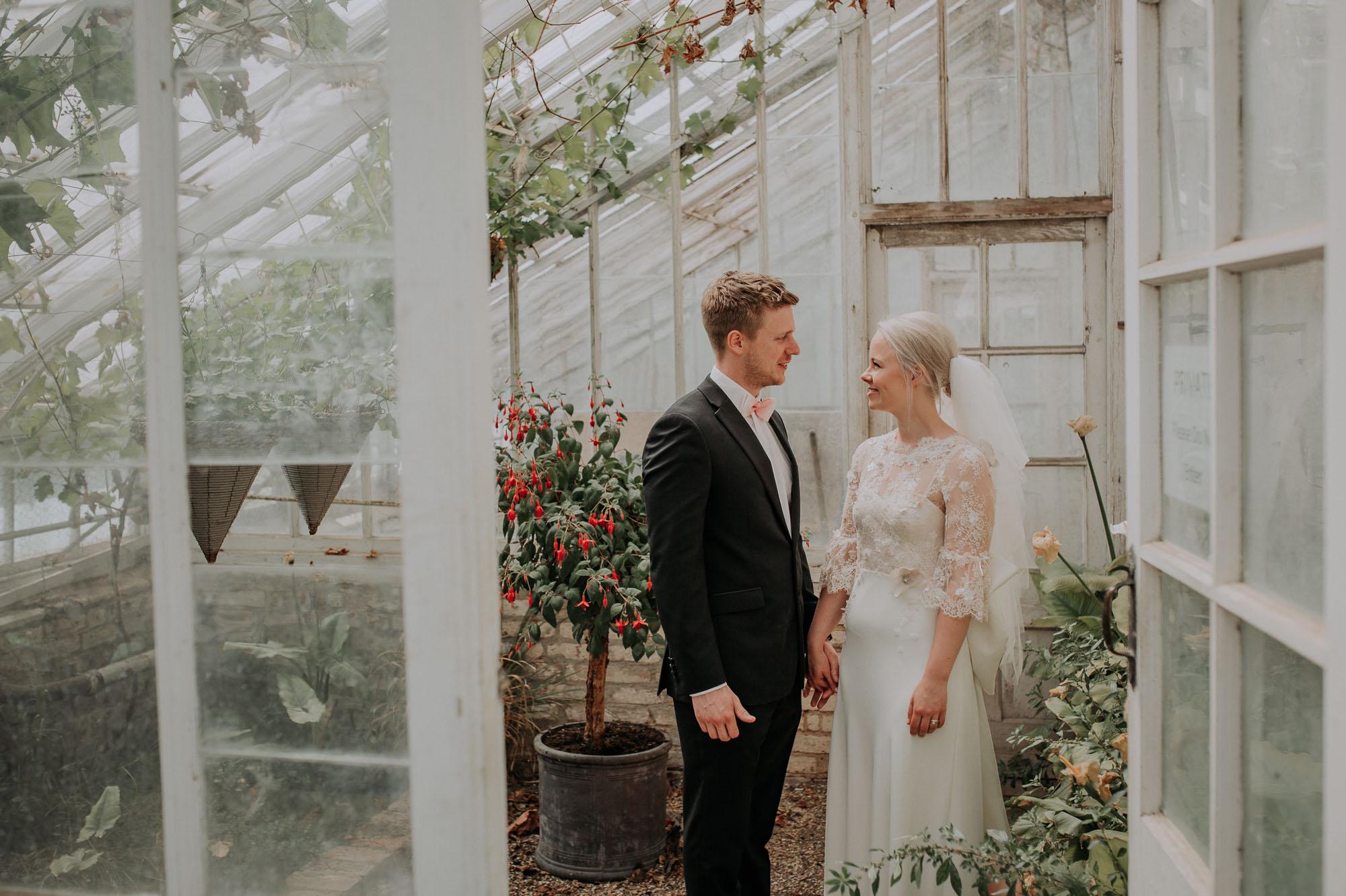 pretty wedding portrait lace and silk floral wedding dress