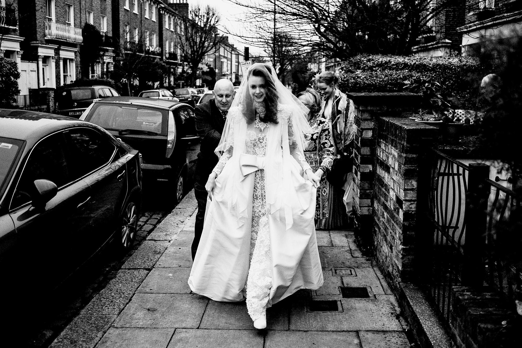 dramatic white wedding dress