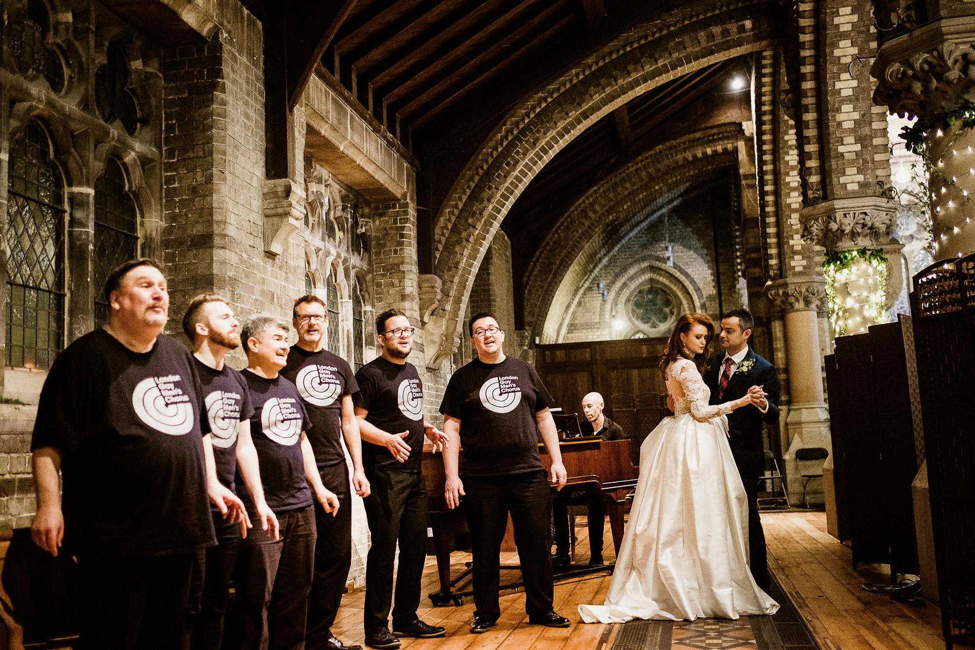 dramatic meringue lace wedding dress