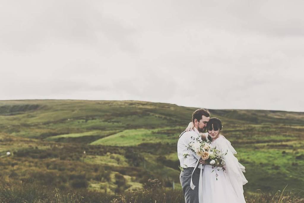 whimisical silver wedding dress sara tasker