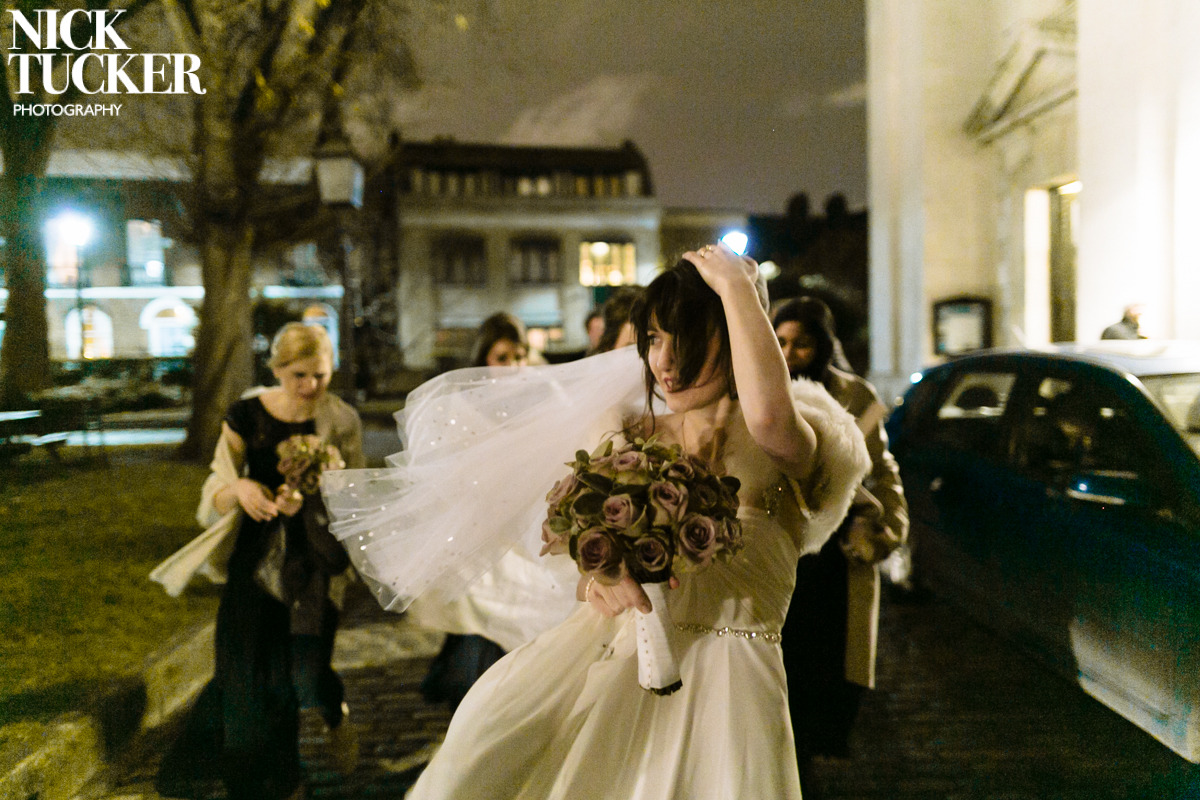London winter wedding dress
