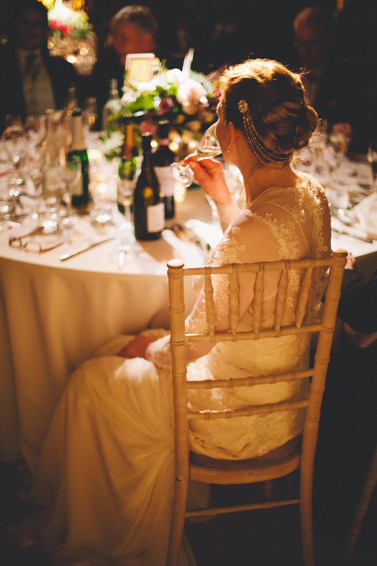 vintage wedding dress details