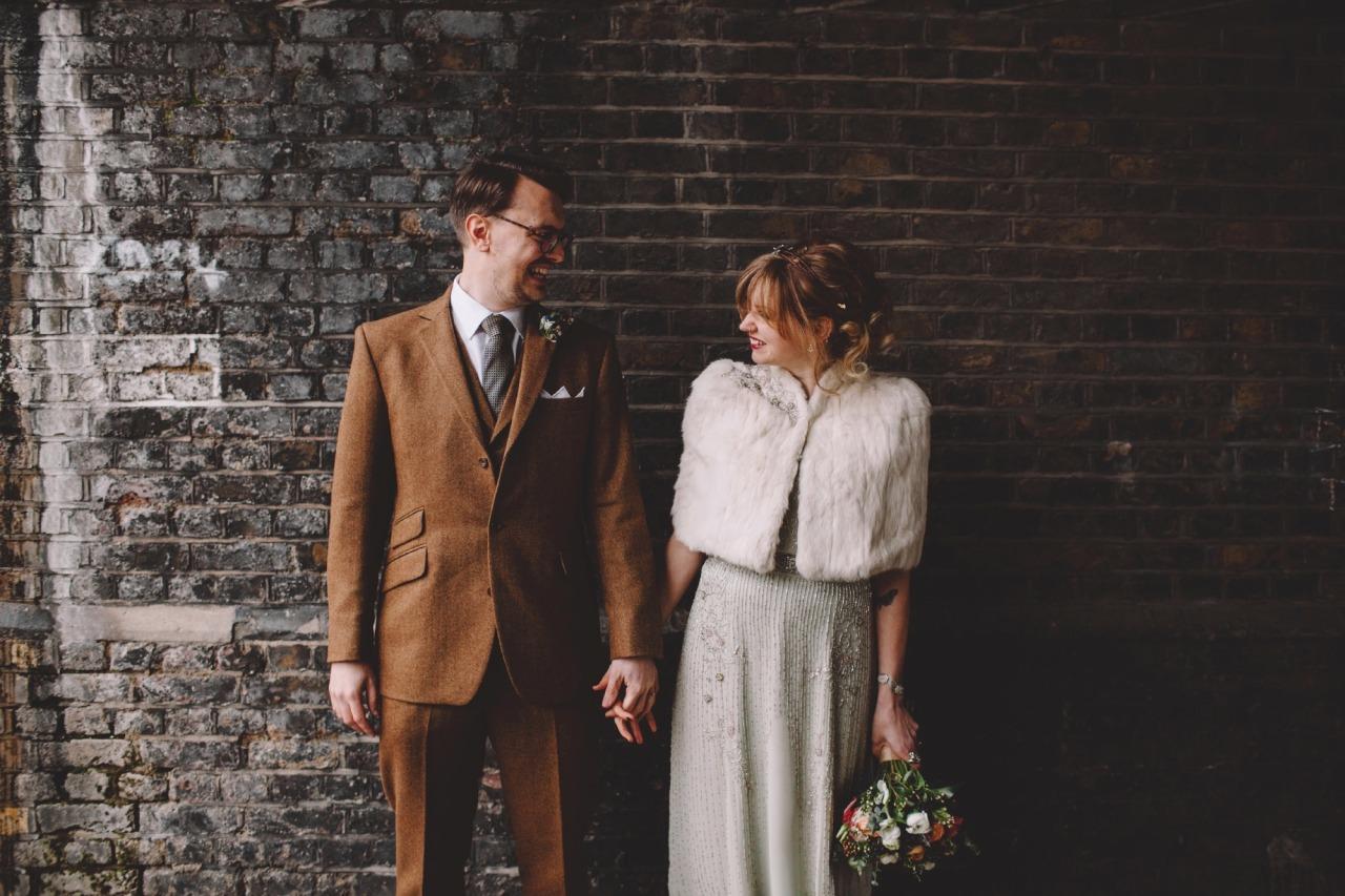 Green vintage style wedding dress