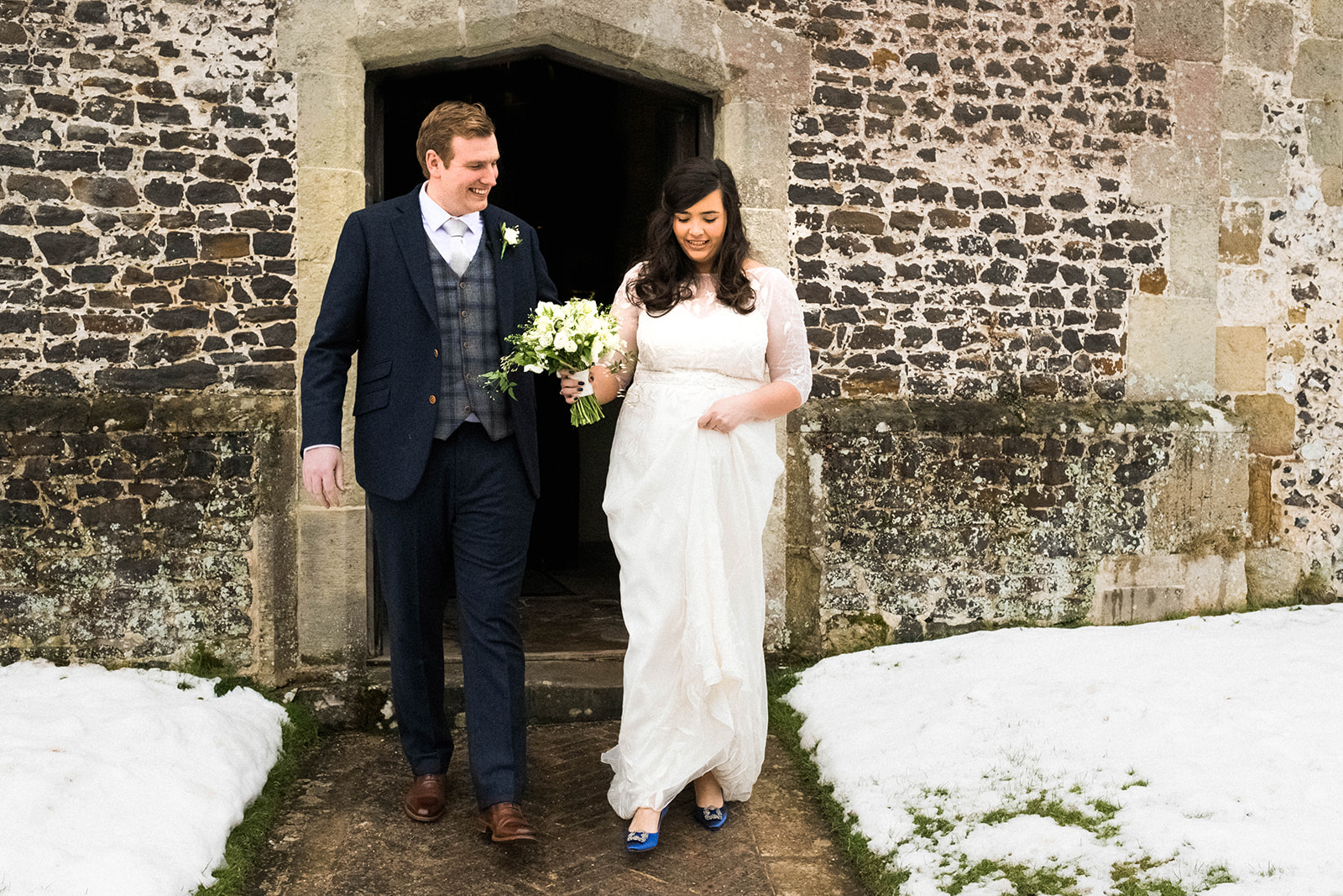 white embroidered wedding dress