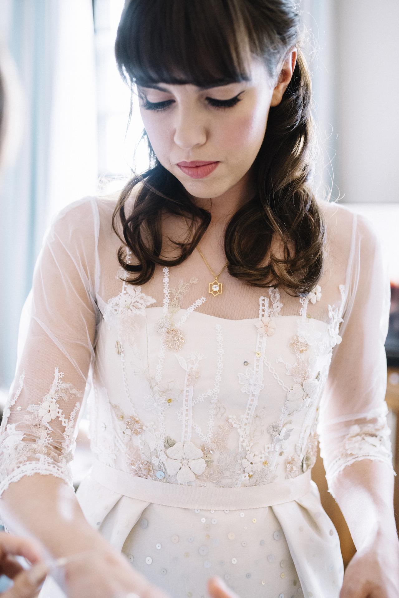 floral lace wedding dress