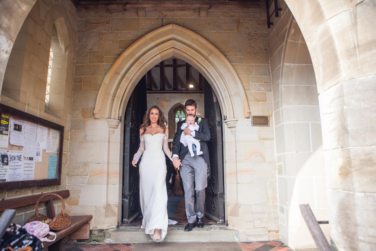 0ff-shoulder lace and silk wedding dress