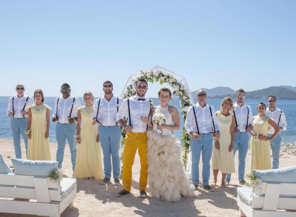 Ibiza Gold Beach Wedding Dress