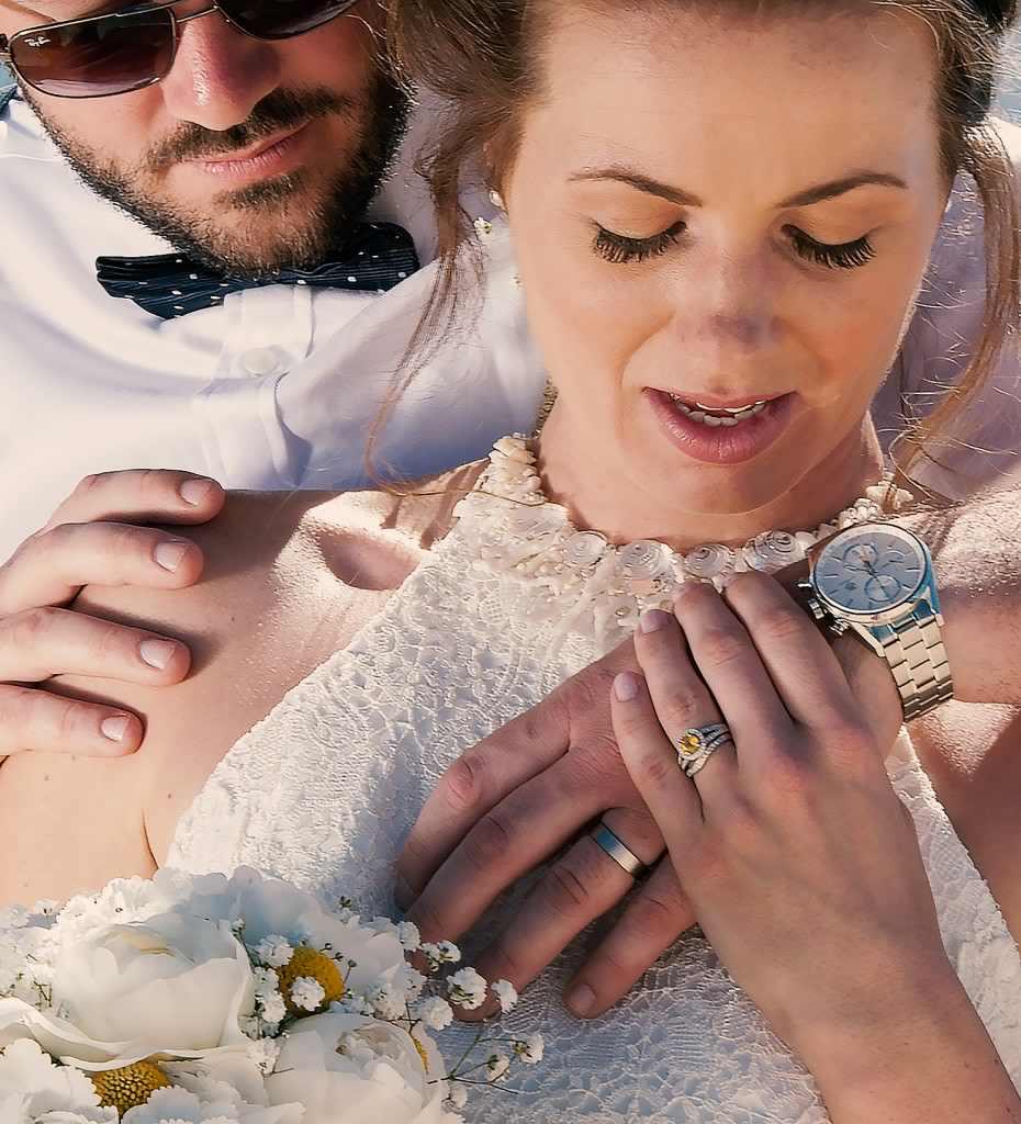 Ibiza Beach  Shell Wedding Dress