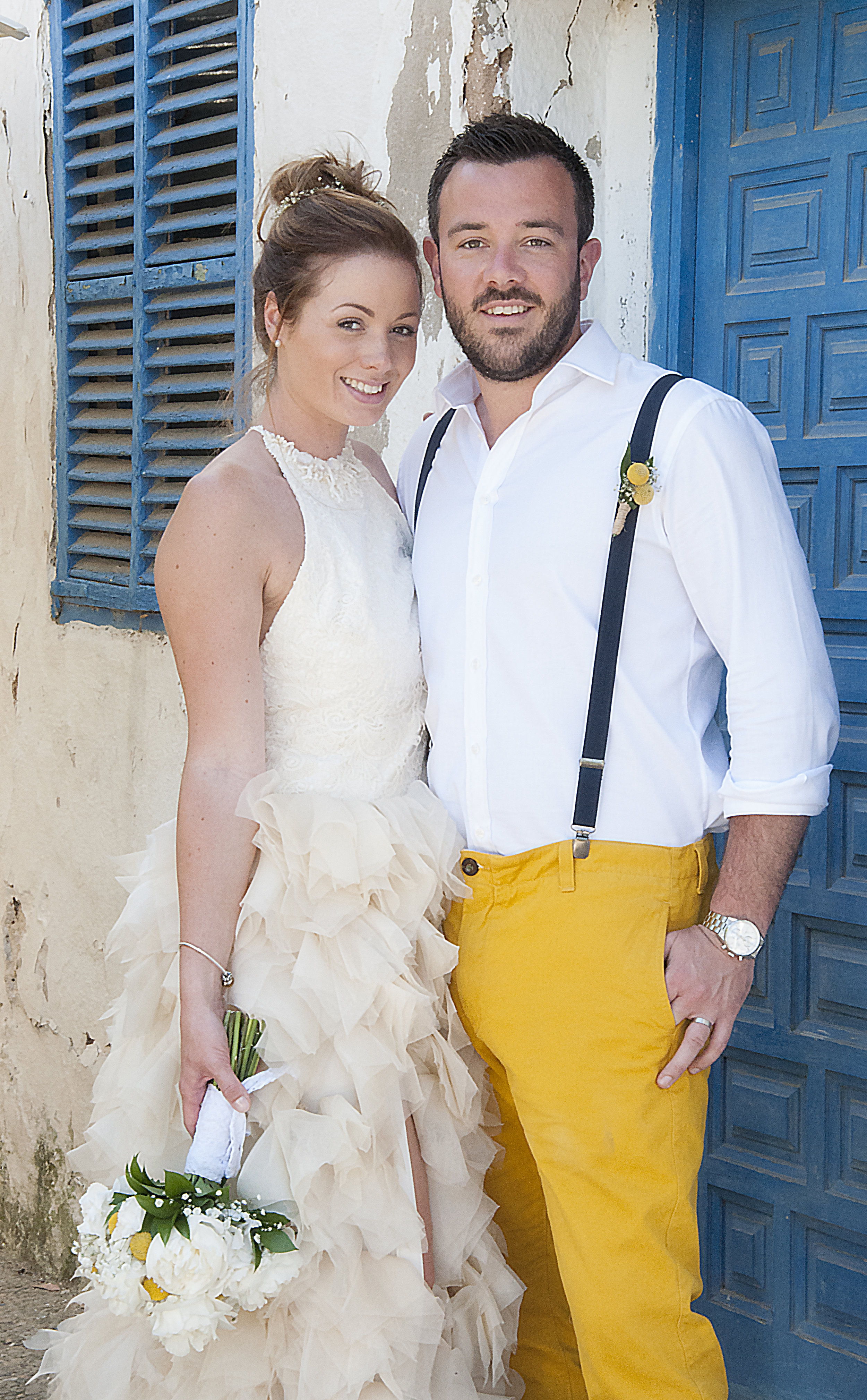 Ibiza Beach Gold Wedding Dress