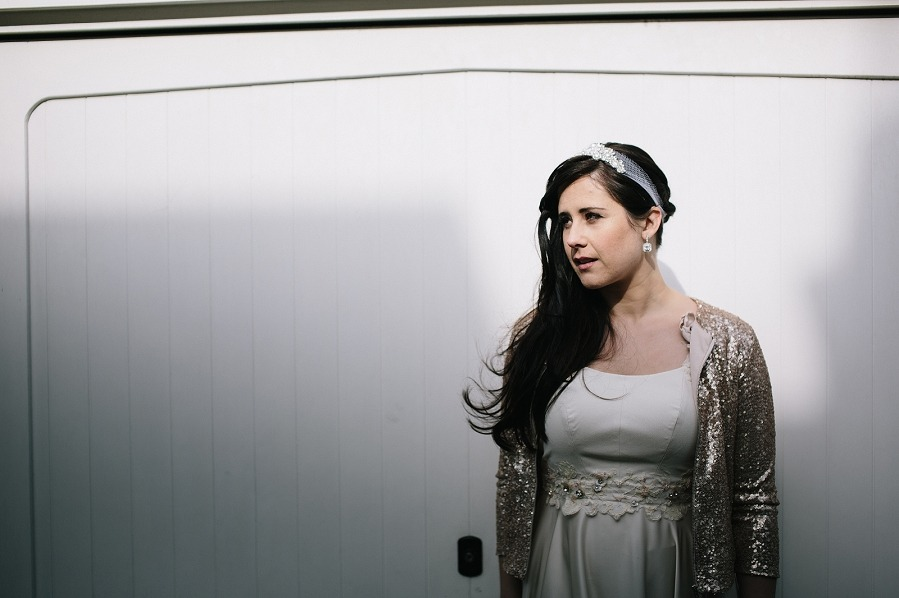 Blush wedding dress gold sequin jacket