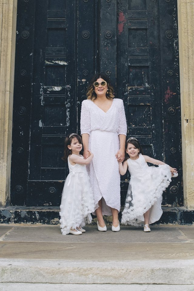 short sequin wedding dress