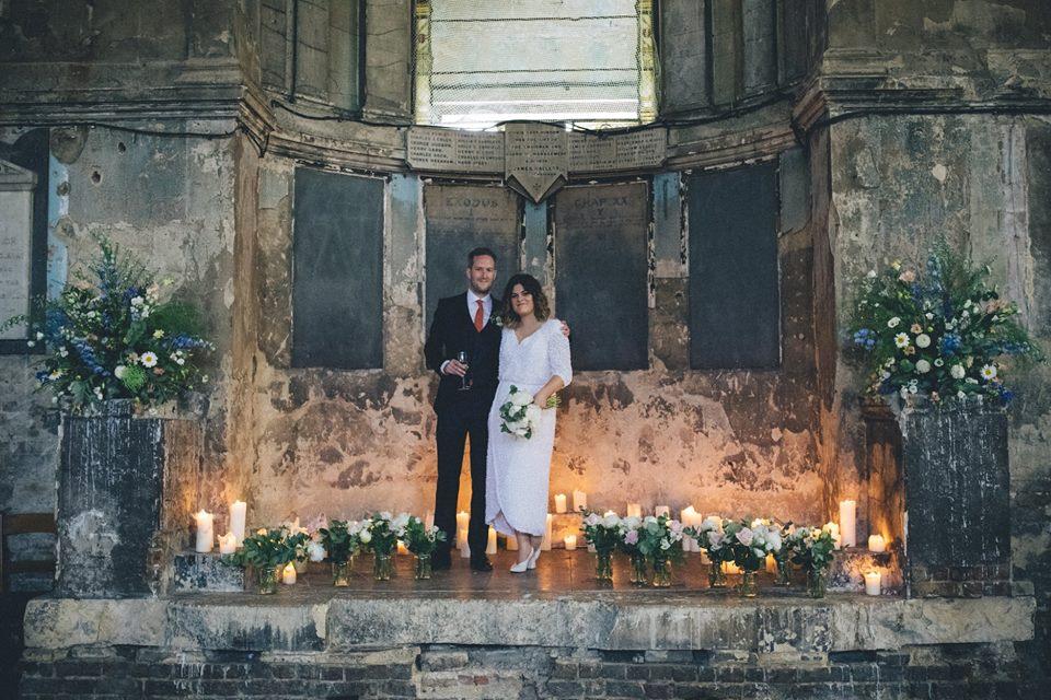 blouson wrap wedding dress