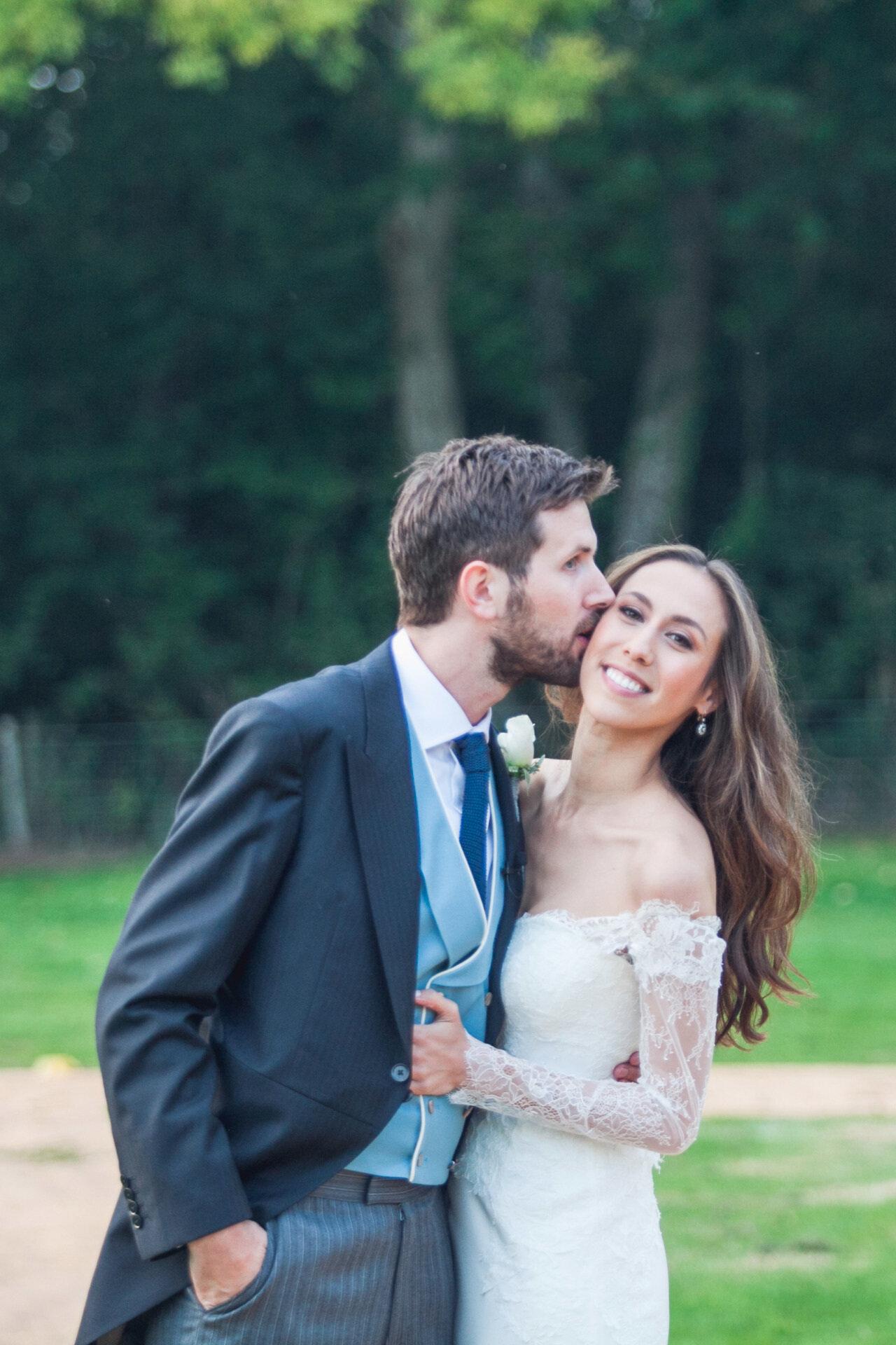 0ff-shoulder lace wedding dress