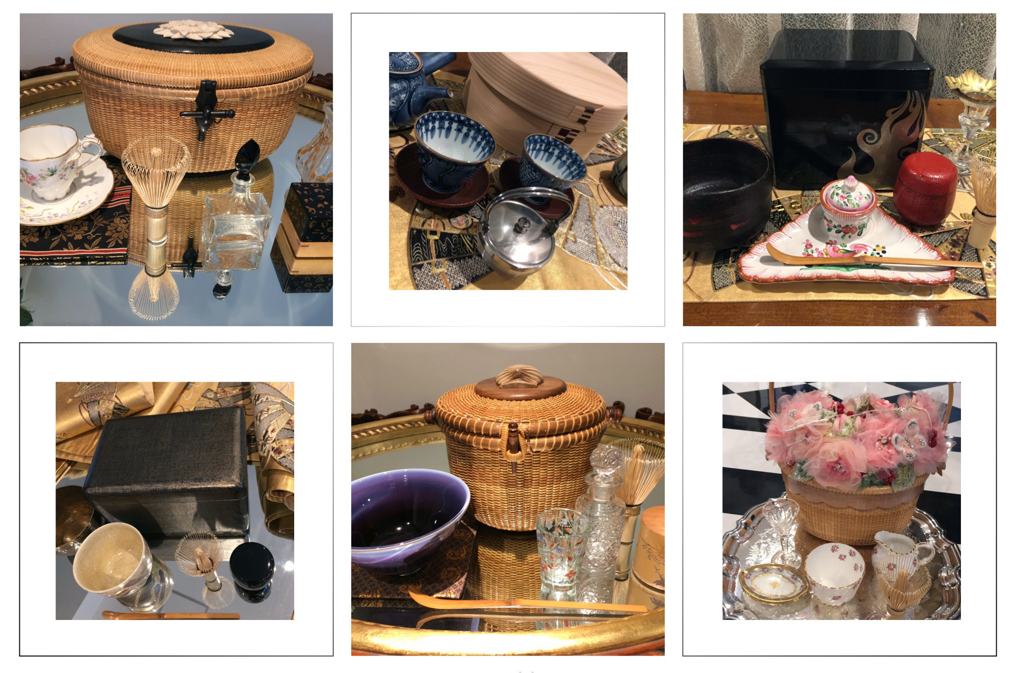 Items on display in  Art of Japanese Tea Picnic: Nodate and Chabako , at The Nippon Club