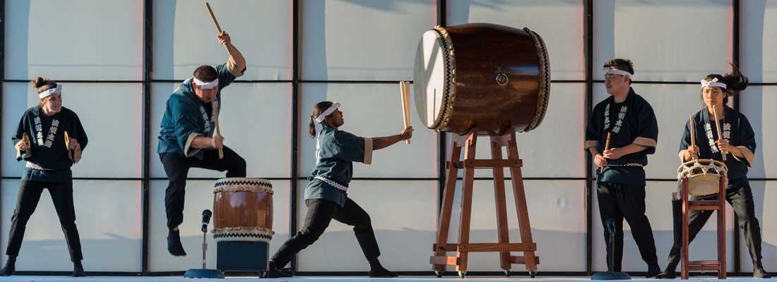A Taiko drum performance at Chicago's  Ginza Holiday Festival .