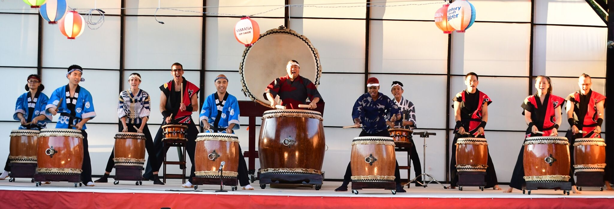 Watch traditional Japanese Taiko drumming at Ginza Holiday in Illinois..jpeg