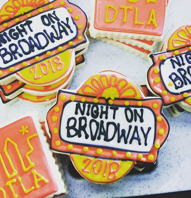 These amazing homemade cookies from production team member Andrew Odom's mom made our planning meeting for next year's #NightOnBroadway event so sweet!  #ThanksMom #WeLoveCookies #SweetMeeting