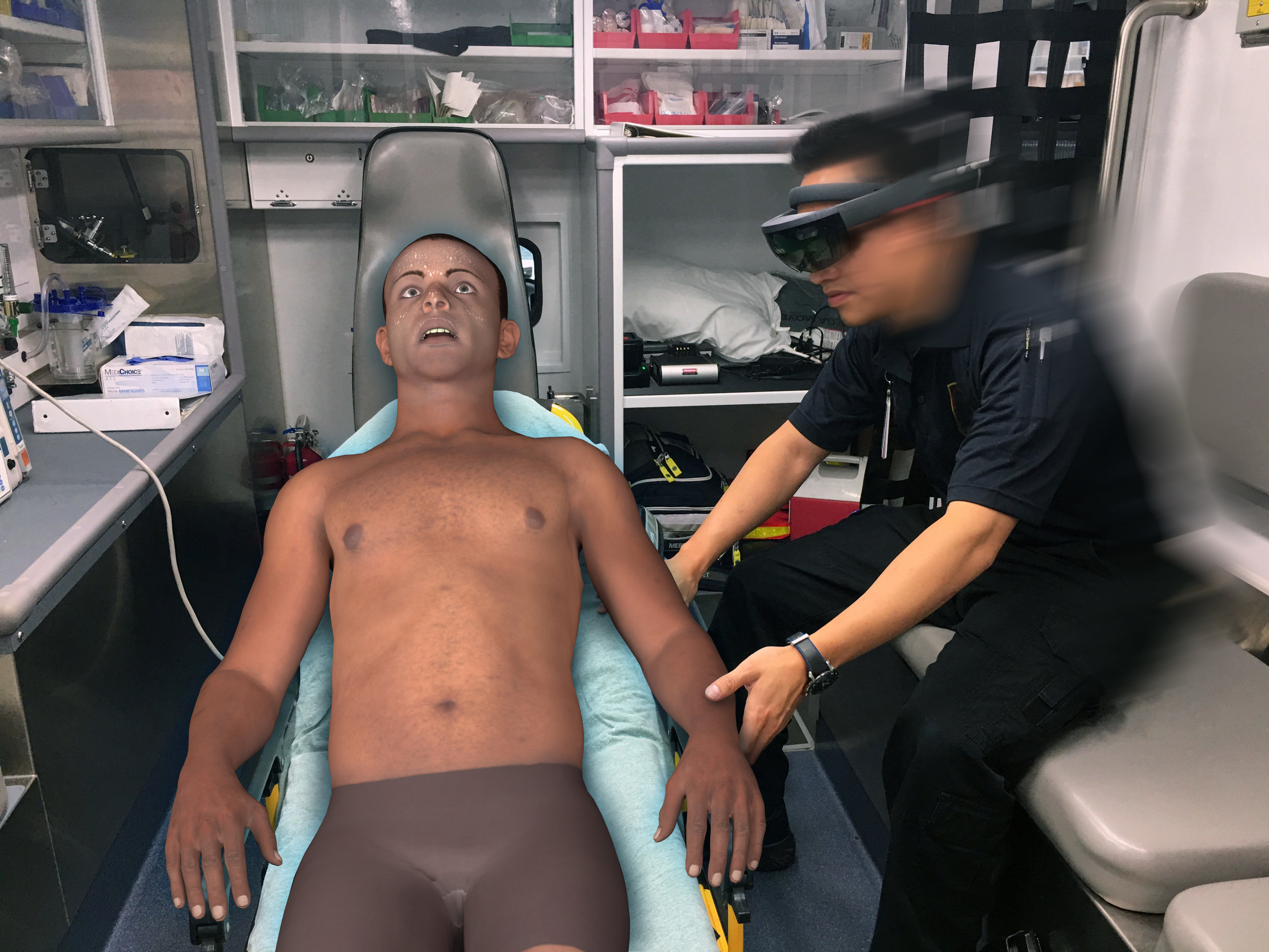 - Instead of classrooms or on-screen training modules, PerSim® empowers trainees to practice caring for critically ill patients where first responders actually provide life-saving care: at the incident site, in the back of an ambulance, on a gurney in transit.