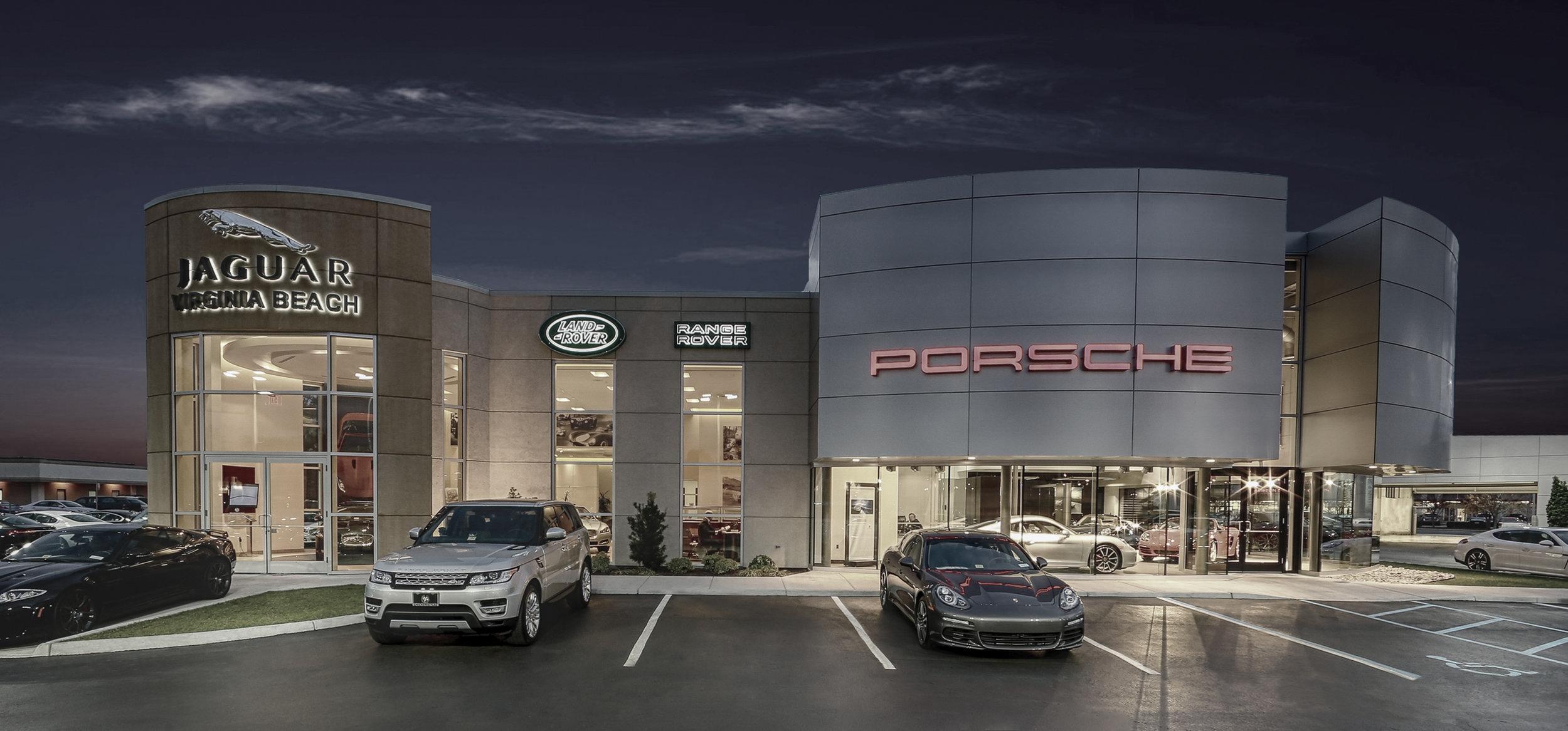 Checkered Flag Jaguar and Porsche