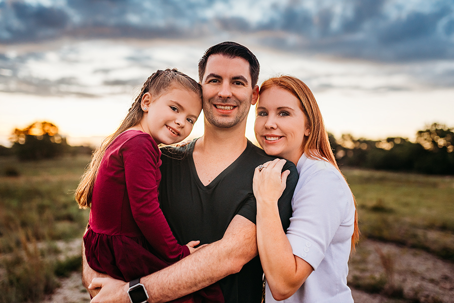 Fort Worth Photographer family session at sunrise