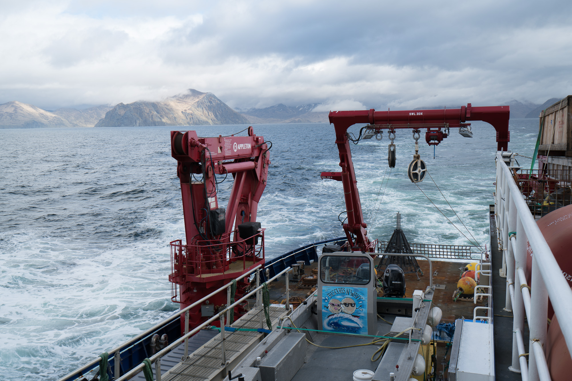 Heading north out of Dutch Harbor. Photo credit: Andrew McDonnell