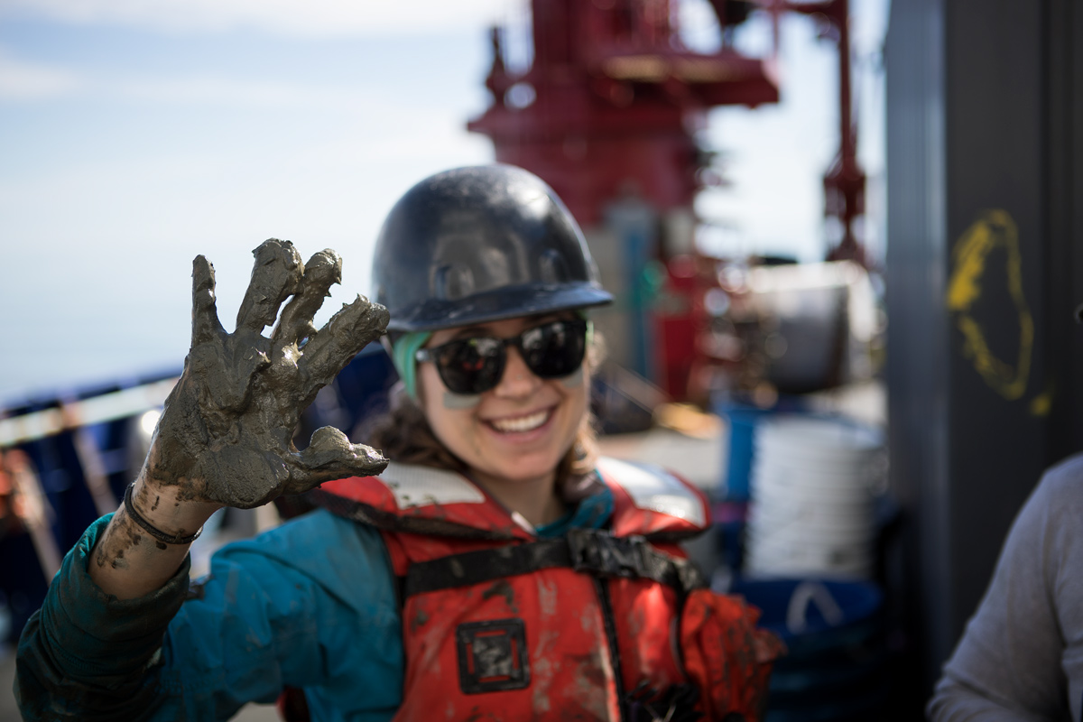 Arctic mud, the new epidermal exfoliate. Photo credit: Brendan Smith