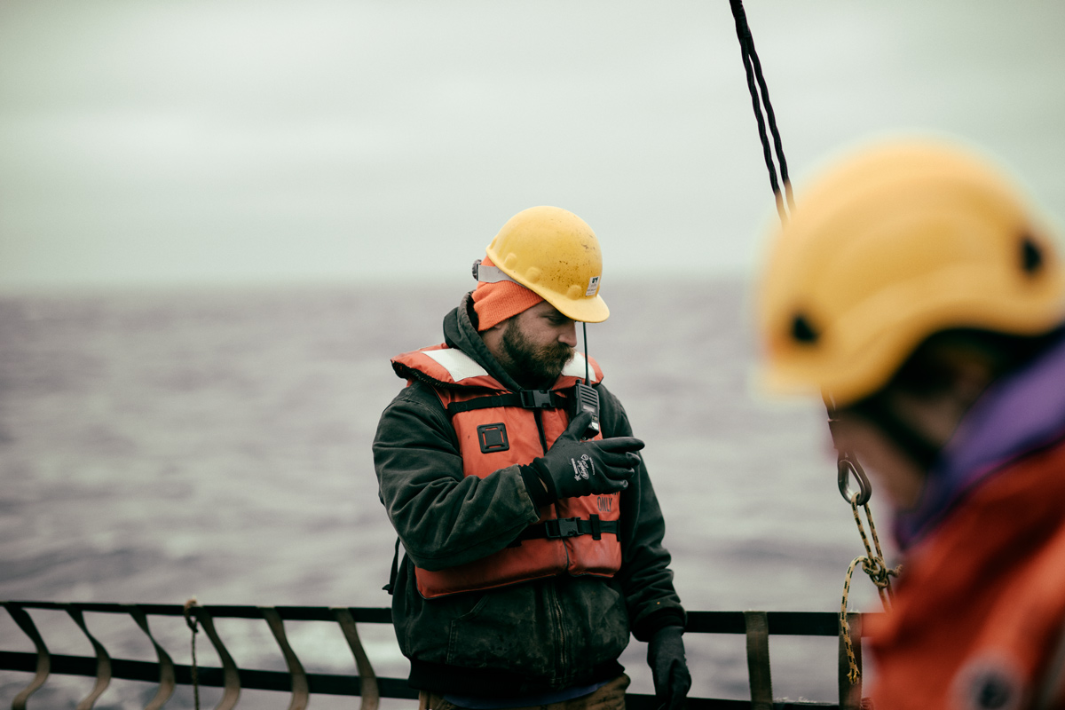 Paul radioing in to the winch control room.Photo credit: Brendan Smith