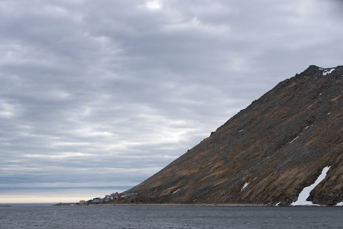 Village of Little Diomede. Photo credit: Brendan Smith