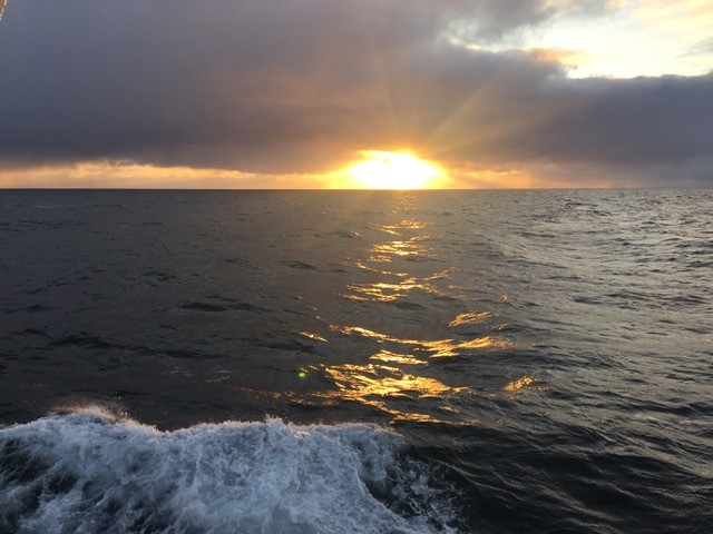 The view of the Northern Chukchi Sea from the R/V  Ocean Starr  on our first calm evening. Photo credit: Alicia Flores