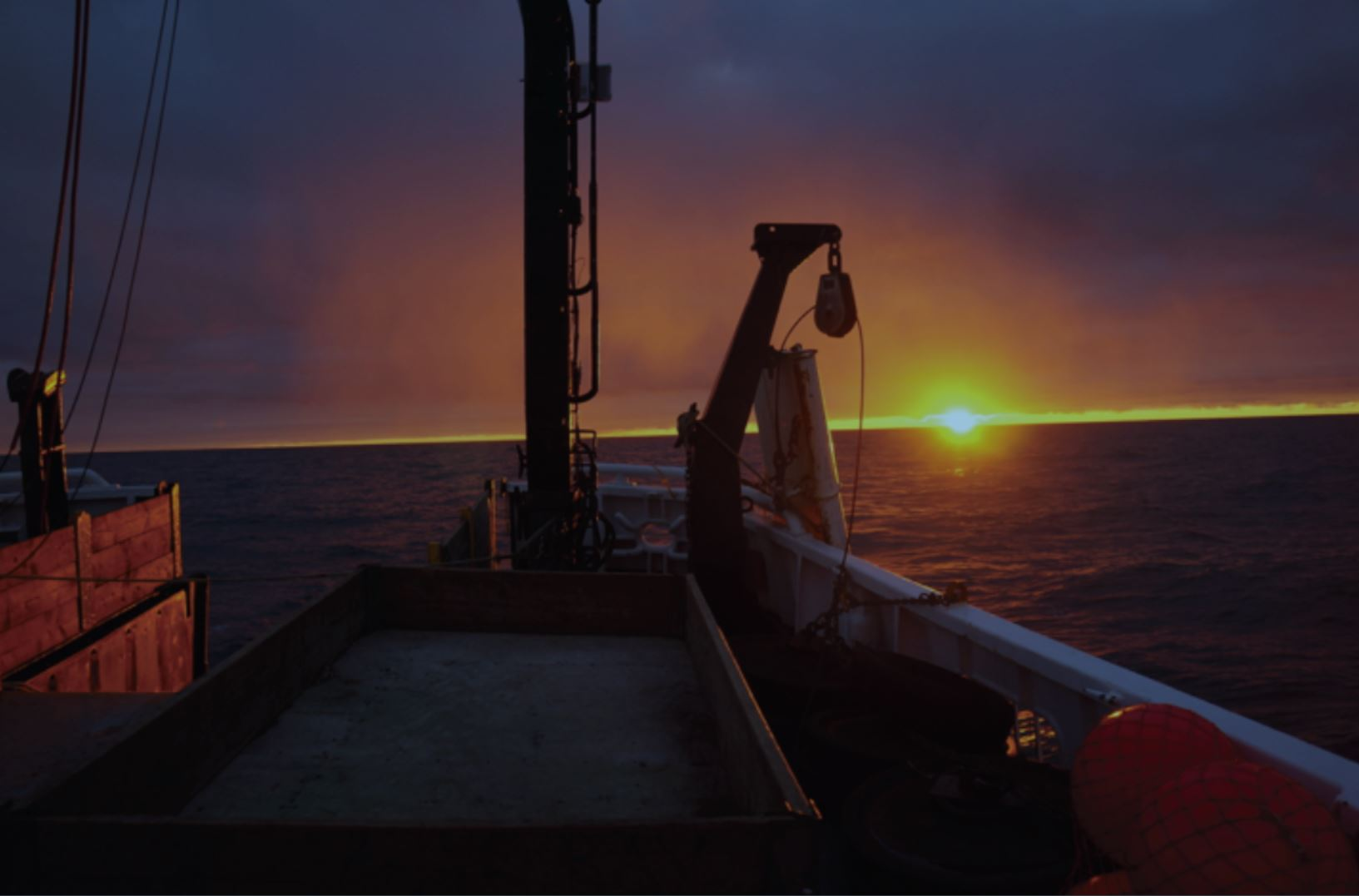Colors we will never forget from our time on the R/V  Ocean Starr . Photo credit: Aleksey Somov