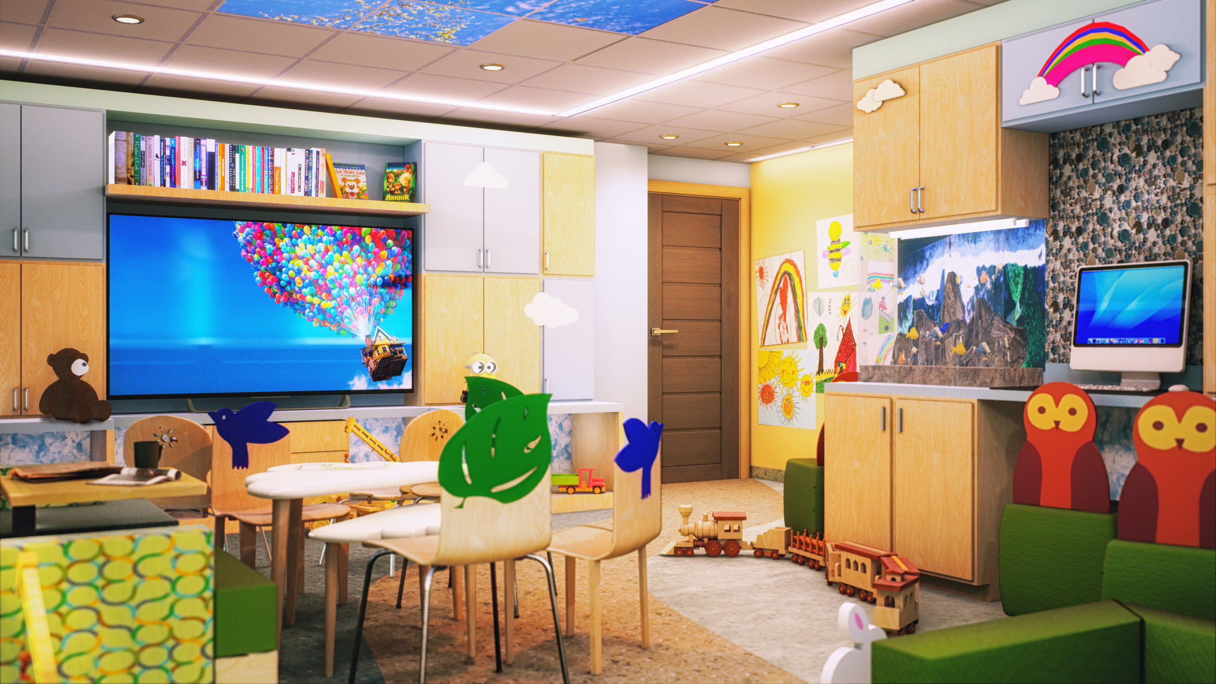 COHEN'S PLAYROOM   VR for the renovation for a children's playroom in a hospital