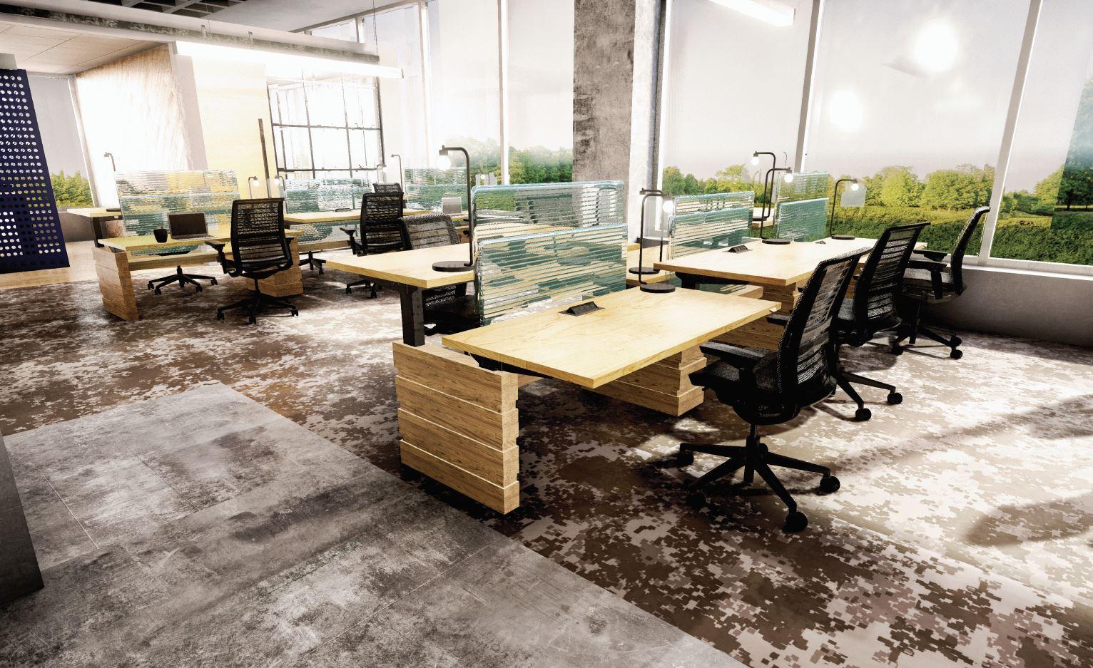 UNILEVER HEADQUARTERS   VR to visualize West Elm furniture in a corporate headquarters