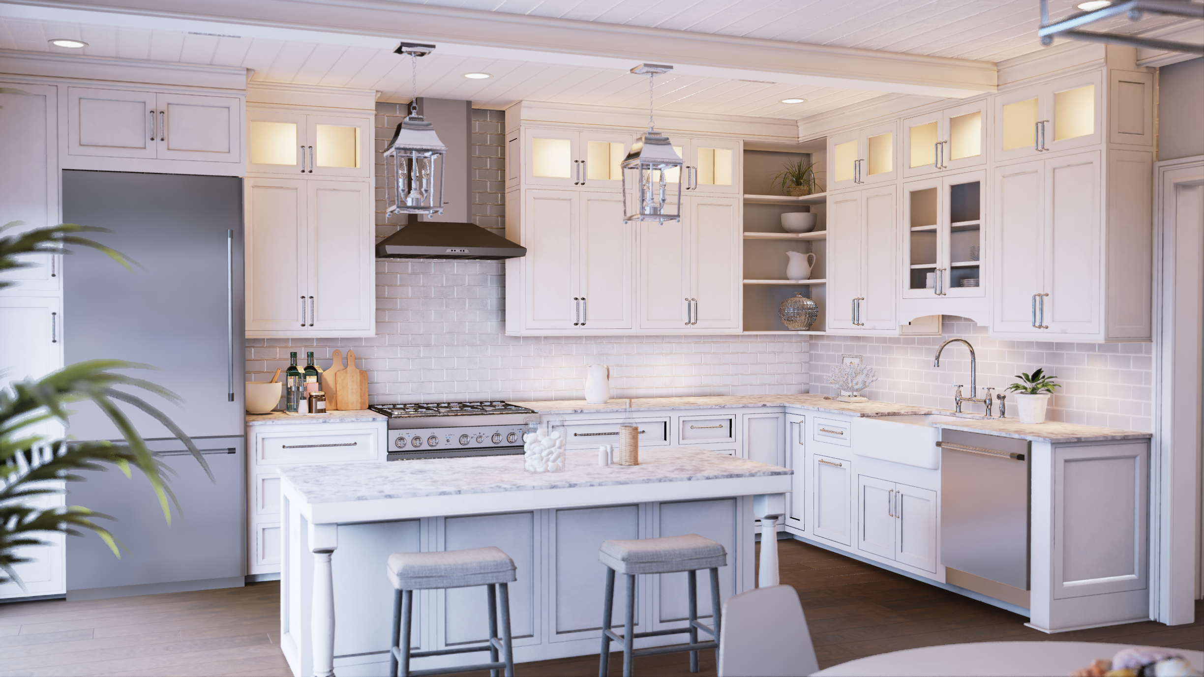 Beatiful Kitchen rendering by Mythic VR
