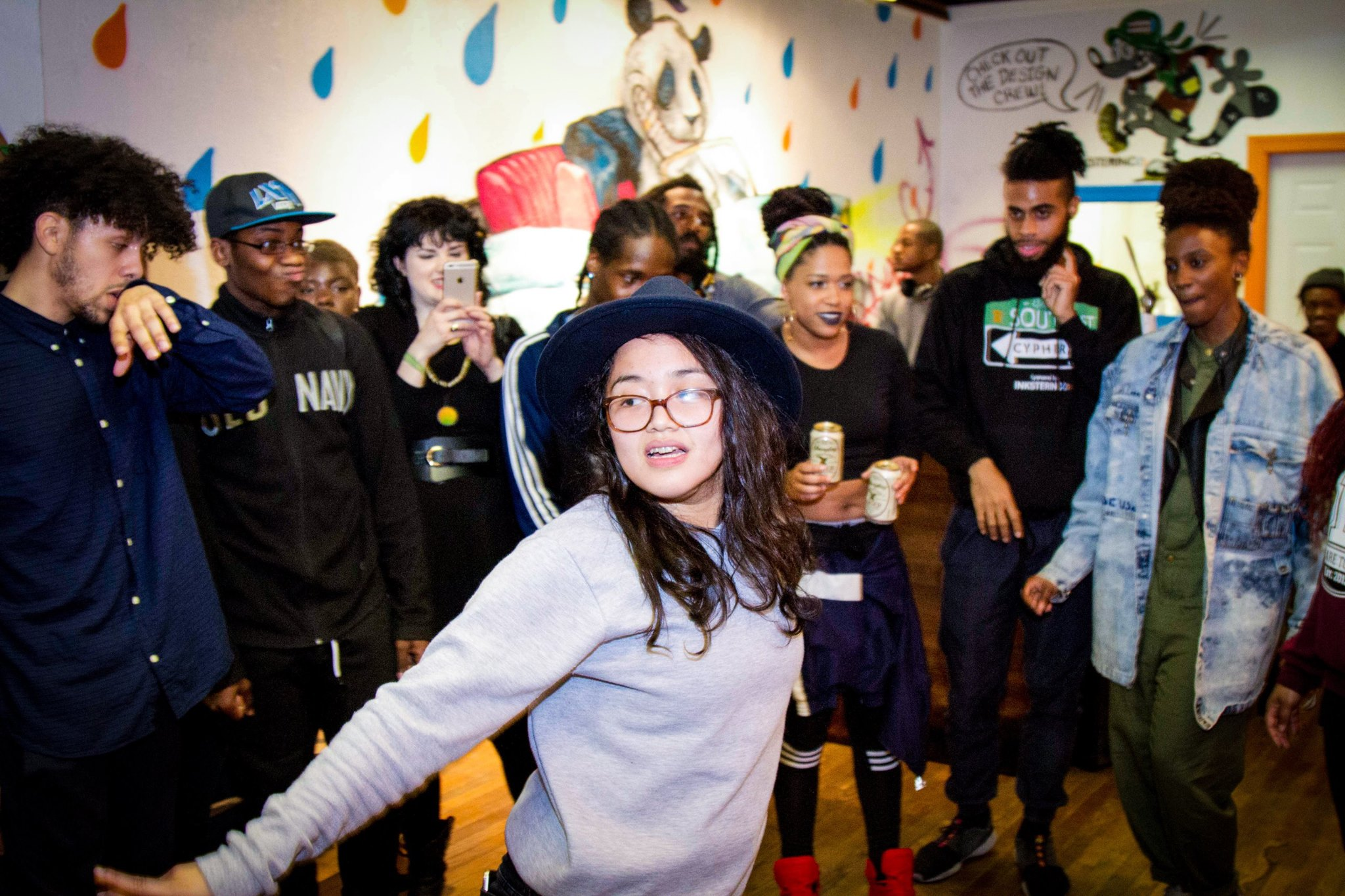 Bea freestyling at Elebration Philly  Photo by: Saeed Briscoe