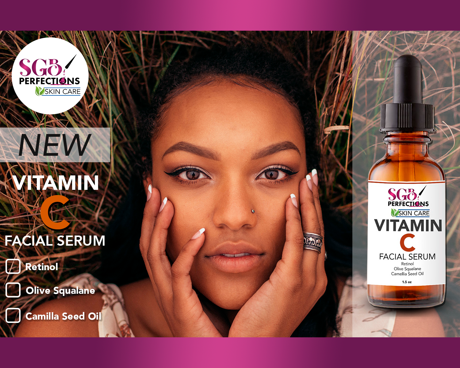 Organic Vitamin C Skincare - Our scientifically created skincare has Vitamin C, which naturally helps skin to glow, produce collagen, improves skin texture, and has anti-aging ingredients. Our Vitamin C products are integrated with other natural anti-aging, pore reduction, UV protecting, and collagen producing ingredients.