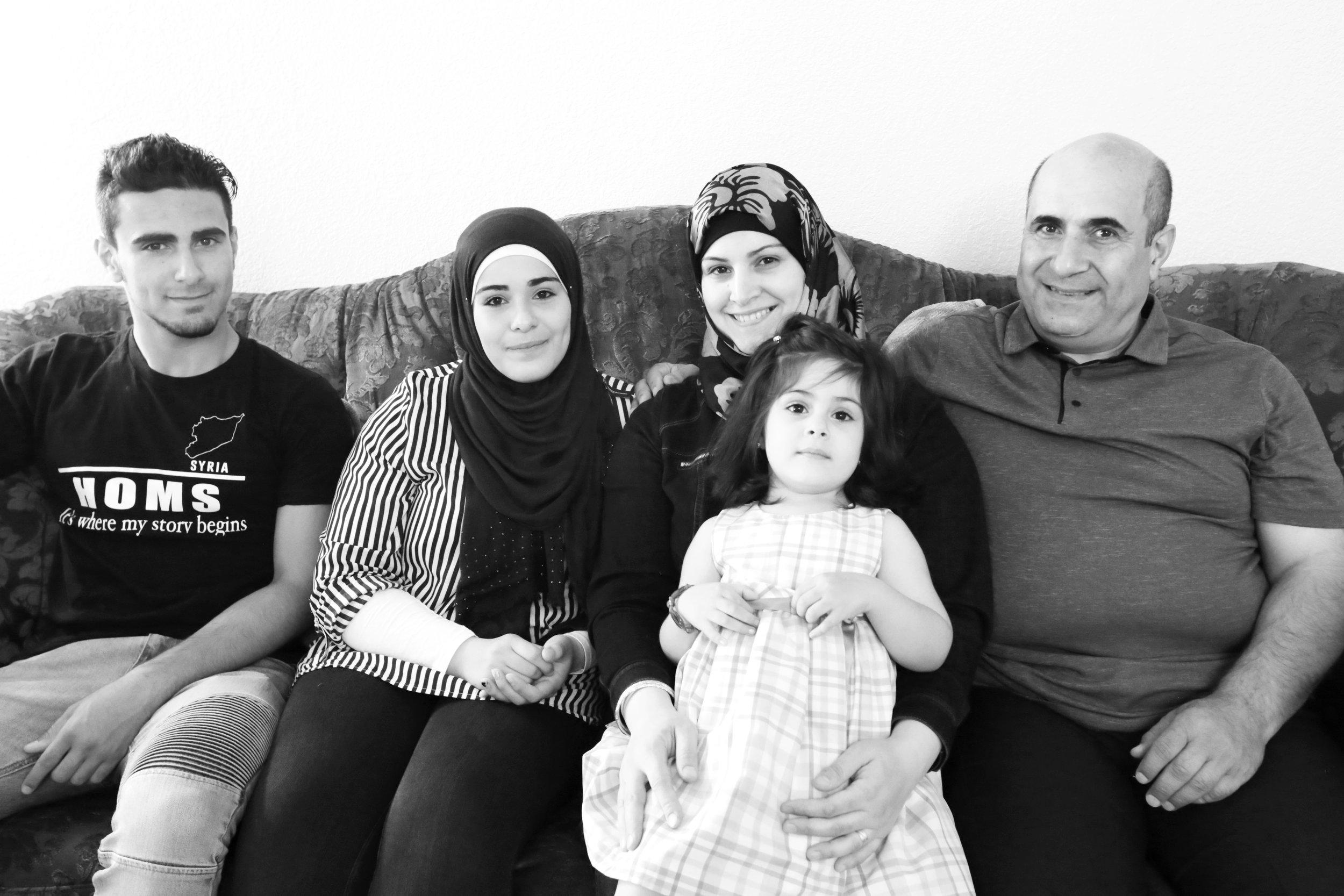 Left to Right: Basil, Deema, Nour, Lamar (Lulu), Thafer