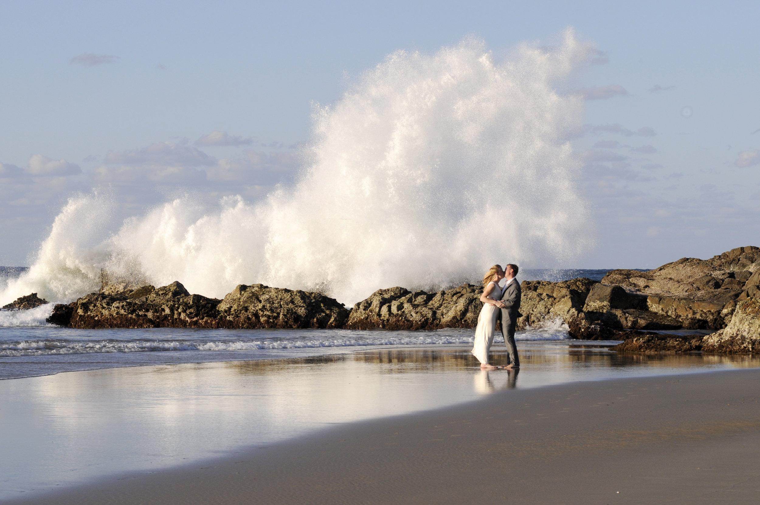 Wedding on a beach in Sydney's North Shore