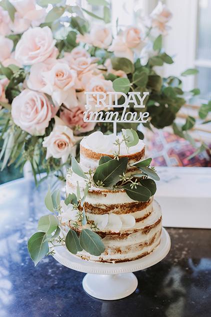 Semi Naked Wedding Cake At The Chiswick Wedding
